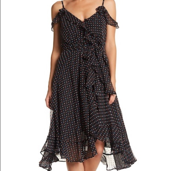 cbe14484eb8 Betsey Johnson Dresses   Skirts - Betsy Johnson Swiss Dot Wrap Dress